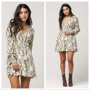 Free People Floral Stealing Fire Mini Tunic Dress